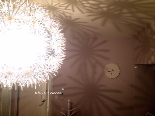 洋室に、IKEAの壁掛け時計を掛けてみました!_a0341288_17272837.jpg
