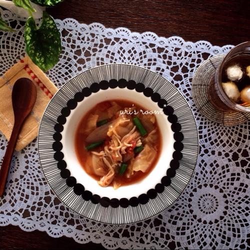 ダイニングのパーリナは自分への戒め。それからダイエットスープはお気に入りのマリメッコのプレートで!_a0341288_17273656.jpg