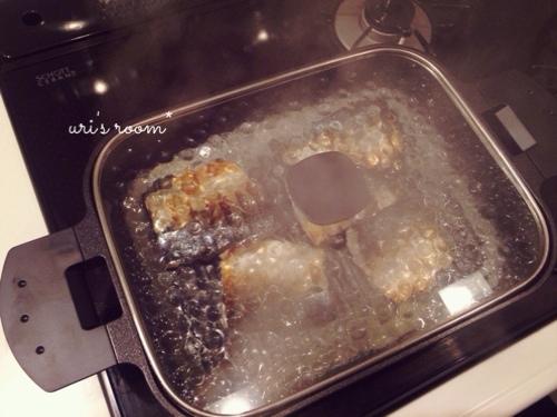 さらば面倒な魚焼きグリル!グリルパンを使って…昨日の晩ごはんは鯖の塩焼き!_a0341288_17273821.jpg