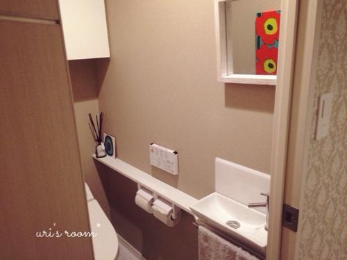 玄関の来客用スリッパと、トイレのスリッパはsarasa design storeさんにて。_a0341288_17274214.jpg