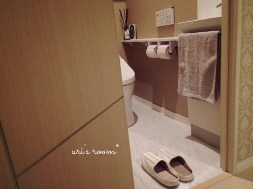 玄関の来客用スリッパと、トイレのスリッパはsarasa design storeさんにて。_a0341288_17274270.jpg