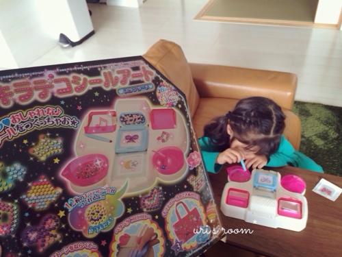 子供が作ったシールにほっこり(´∀`)それからベランダピクニック!_a0341288_17280121.jpg