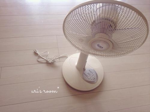 暑くなってきたからそろそろアレが欲しい…!と、夕暮れ時のリビングにて。_a0341288_17280503.jpg