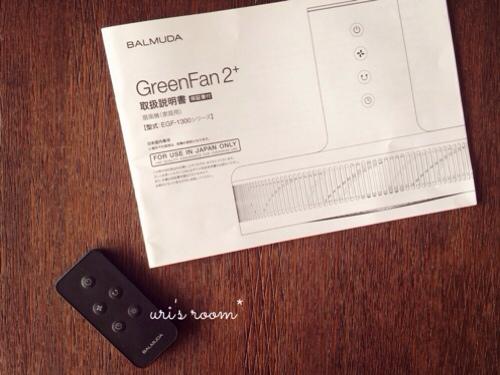 あの!憧れの扇風機、バルミューダのグリーンファンを買いました!_a0341288_17281214.jpg