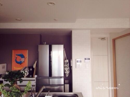 キッチンのデッドスペース。マリメッコをチラリと(´∀`) そしてケーラーオマジオがやっぱり可愛い(´∀`)_a0341288_17281806.jpg