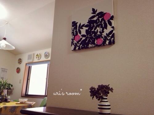 キッチンのデッドスペース。マリメッコをチラリと(´∀`) そしてケーラーオマジオがやっぱり可愛い(´∀`)_a0341288_17281850.jpg