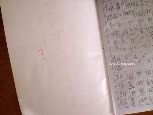 人気のコットンブランケットが買えたーヽ(´▽`)/それから息子の漢字練習帳。_a0341288_17290105.jpg