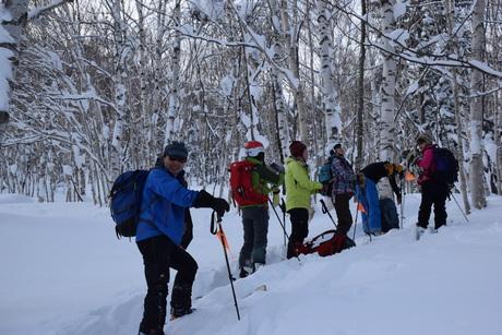 2016年1月23日札幌国際スキー場に近い白井岳支尾根の山を滑る_c0242406_15503296.jpg