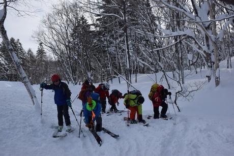 2016年1月23日札幌国際スキー場に近い白井岳支尾根の山を滑る_c0242406_15582880.jpg