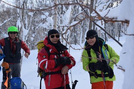 2016年1月23日札幌国際スキー場に近い白井岳支尾根の山を滑る_c0242406_161722.jpg