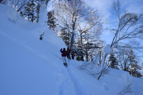 2016年1月23日札幌国際スキー場に近い白井岳支尾根の山を滑る_c0242406_16375632.jpg