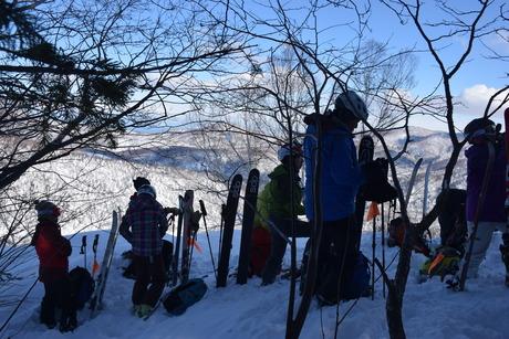 2016年1月23日札幌国際スキー場に近い白井岳支尾根の山を滑る_c0242406_16392294.jpg