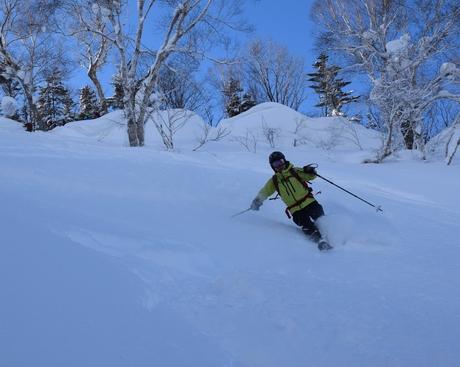 2016年1月23日札幌国際スキー場に近い白井岳支尾根の山を滑る_c0242406_1652219.jpg