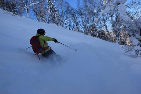 2016年1月23日札幌国際スキー場に近い白井岳支尾根の山を滑る_c0242406_16522363.jpg