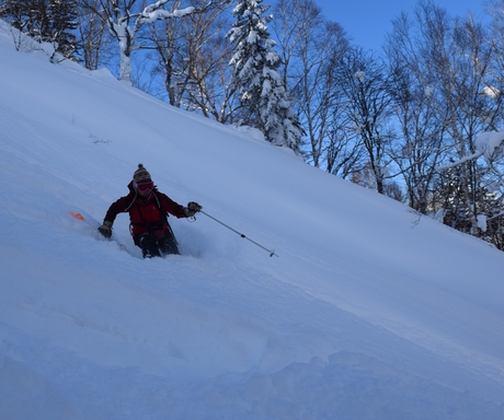 2016年1月23日札幌国際スキー場に近い白井岳支尾根の山を滑る_c0242406_16533319.jpg