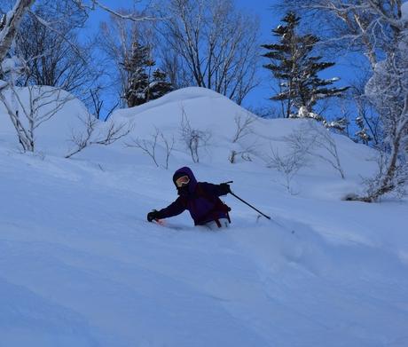 2016年1月23日札幌国際スキー場に近い白井岳支尾根の山を滑る_c0242406_165615100.jpg