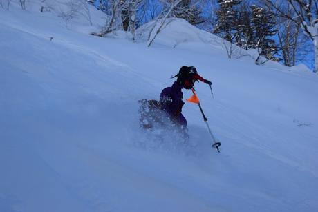 2016年1月23日札幌国際スキー場に近い白井岳支尾根の山を滑る_c0242406_16584585.jpg