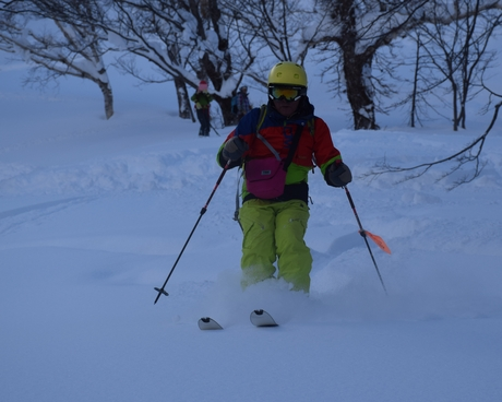 2016年1月23日札幌国際スキー場に近い白井岳支尾根の山を滑る_c0242406_17263739.jpg