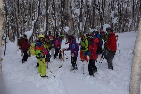 2016年1月23日札幌国際スキー場に近い白井岳支尾根の山を滑る_c0242406_1733258.jpg