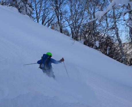 2016年1月23日札幌国際スキー場に近い白井岳支尾根の山を滑る_c0242406_17645.jpg