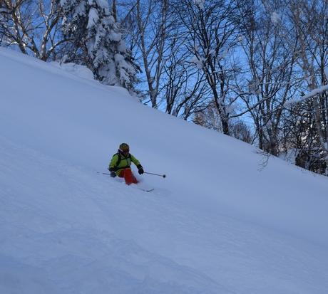 2016年1月23日札幌国際スキー場に近い白井岳支尾根の山を滑る_c0242406_1782199.jpg