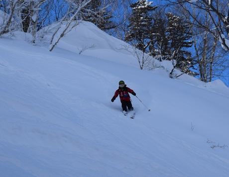 2016年1月23日札幌国際スキー場に近い白井岳支尾根の山を滑る_c0242406_1794563.jpg