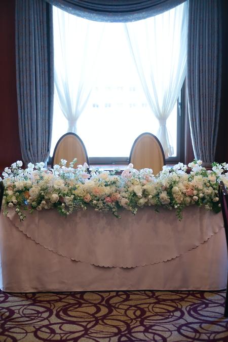冬の装花 如水会館様へ スイートピーと雪景色_a0042928_9195082.jpg
