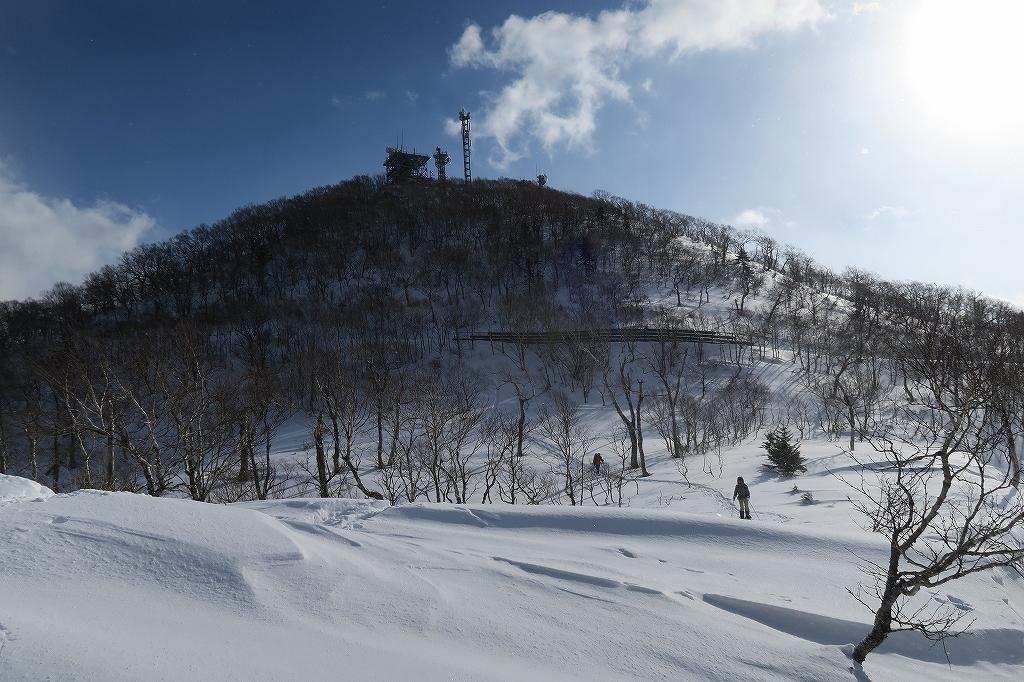 紋別岳から748mピーク、1月27日_f0138096_12111283.jpg