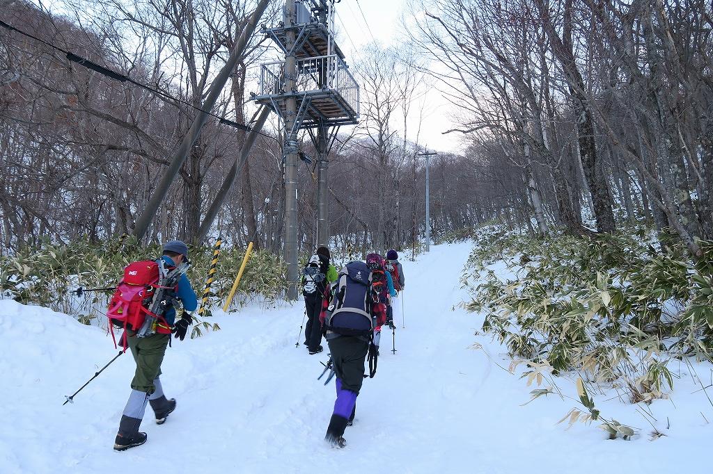紋別岳から748mピーク、1月27日_f0138096_122177.jpg