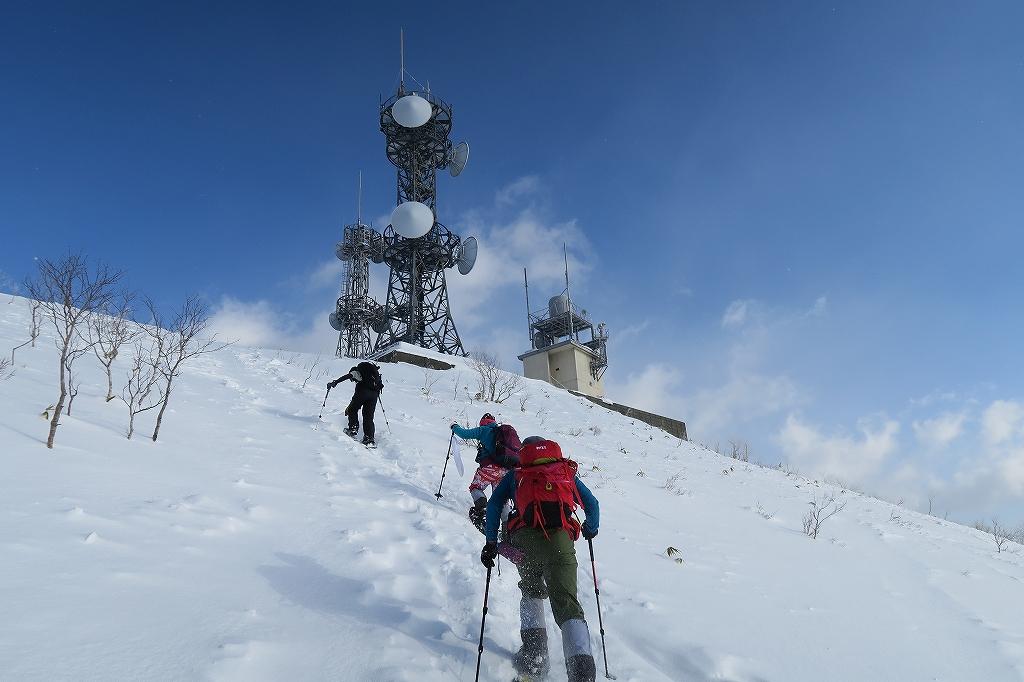 紋別岳から748mピーク、1月27日_f0138096_1223828.jpg