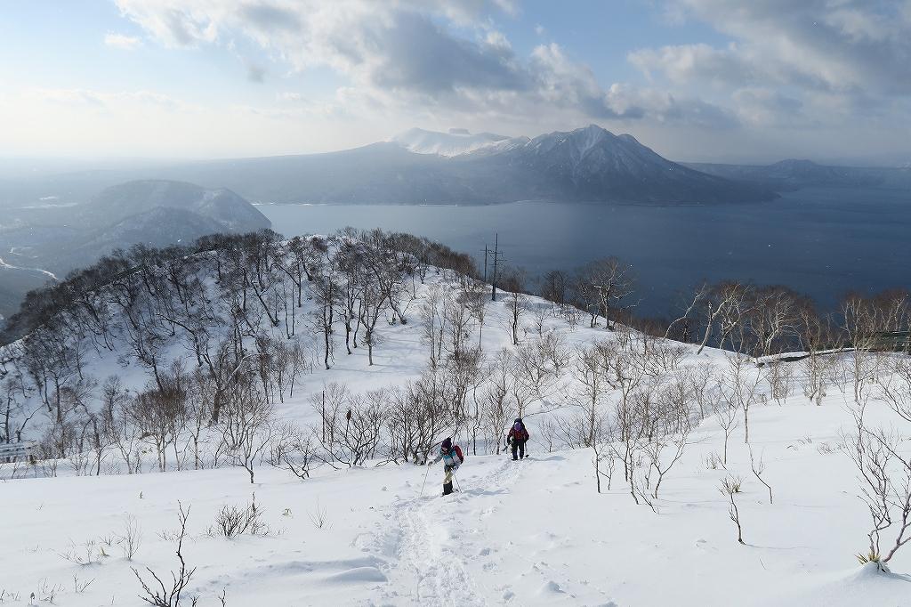 紋別岳から748mピーク、1月27日_f0138096_1224680.jpg