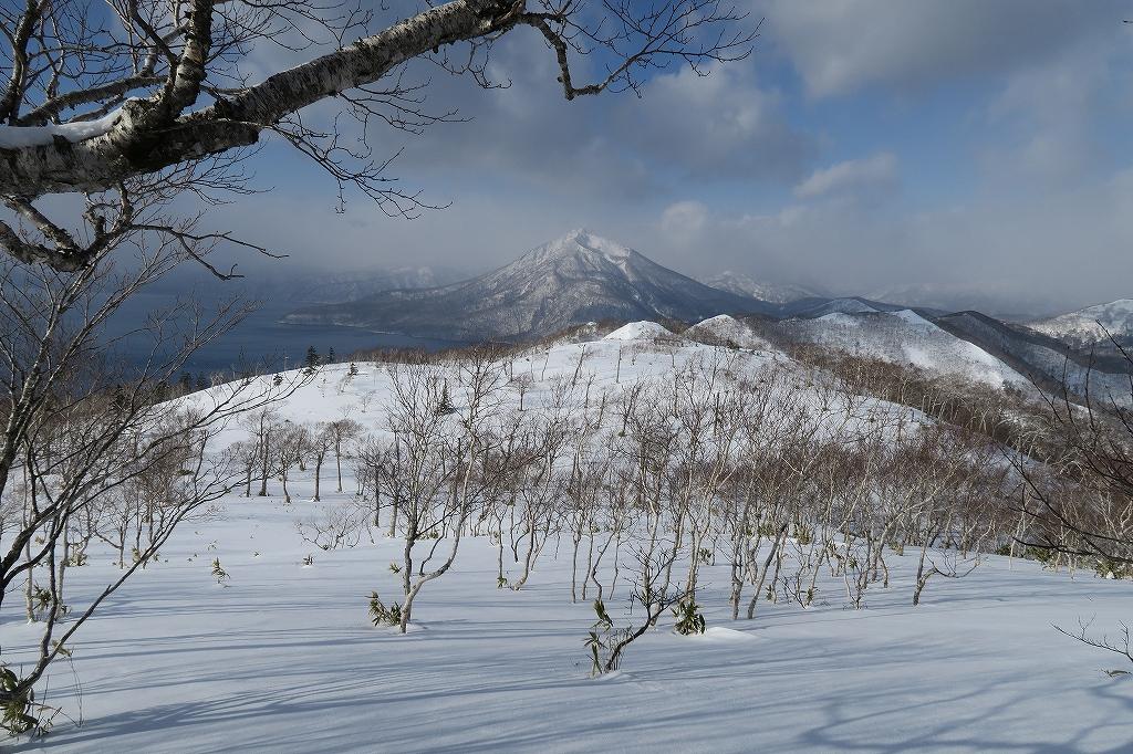 紋別岳から748mピーク、1月27日_f0138096_1232182.jpg