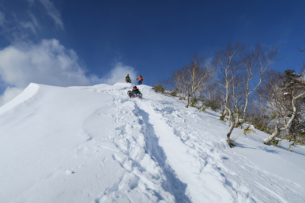 紋別岳から748mピーク、1月27日_f0138096_124162.jpg