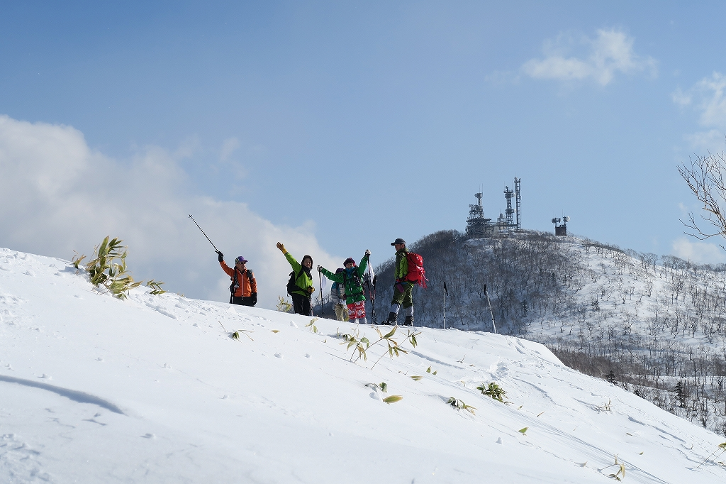 紋別岳から748mピーク、1月27日_f0138096_124938.jpg