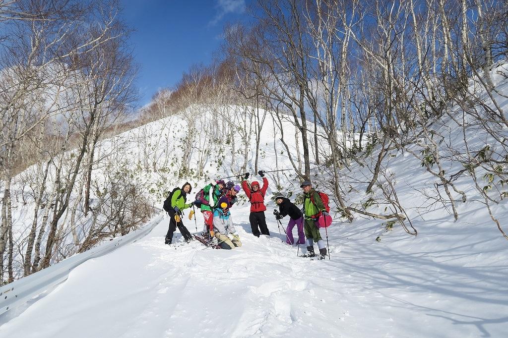 紋別岳から748mピーク、1月27日_f0138096_1251948.jpg