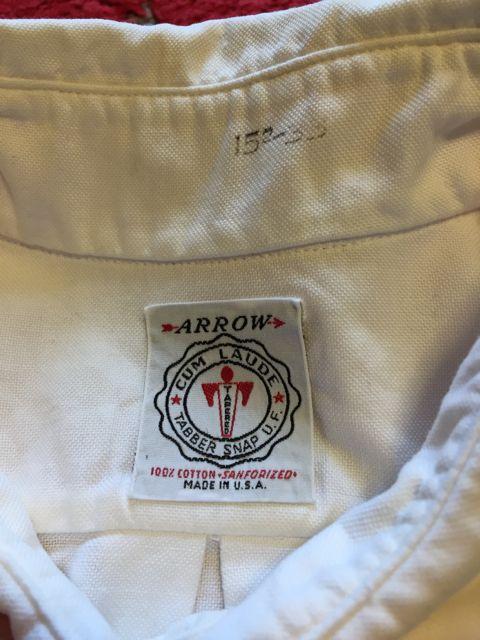 1/30(土)入荷!60\'s Arrow OXFORD タブカラーシャツ!_c0144020_14395497.jpg