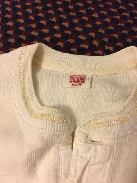 1/30(土)入荷!40s HANES ヘンリーネックシャツ&デッドストック known ヘンリーシャツ!_c0144020_1611535.jpg