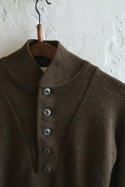 USA army henley neck knit_f0226051_13580314.jpg