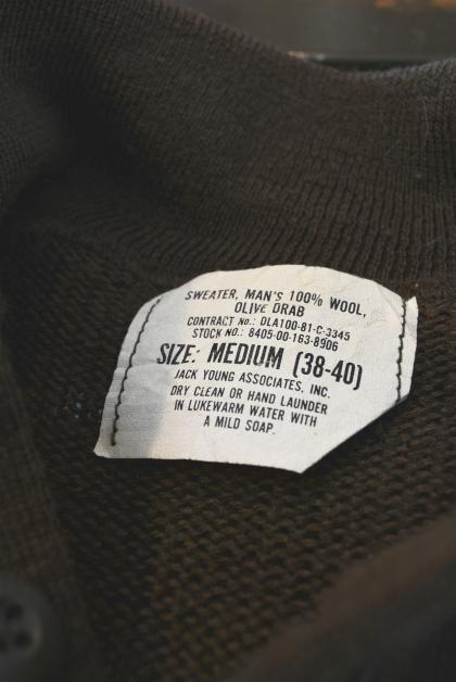 USA army henley neck knit_f0226051_14024590.jpg