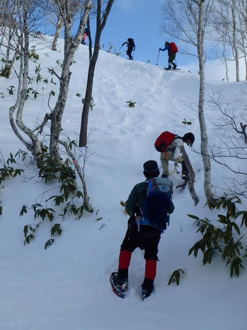紋別岳から748mピーク、1月27日-同行者からの写真-_f0138096_1045736.jpg