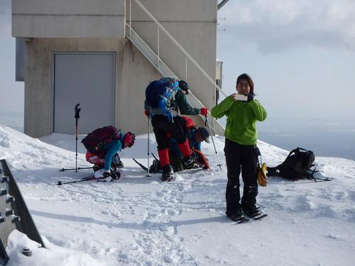 紋別岳から748mピーク、1月27日-同行者からの写真-_f0138096_1051245.jpg