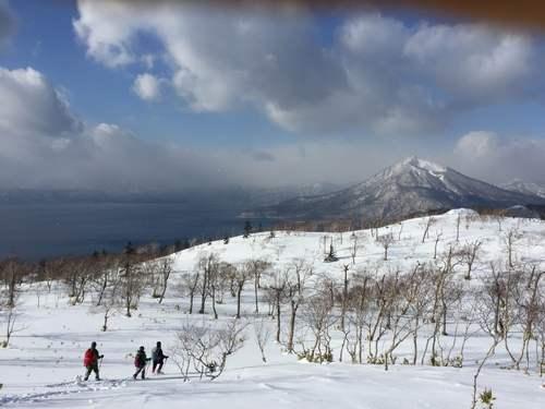 紋別岳から748mピーク、1月27日-同行者からの写真-_f0138096_1064513.jpg