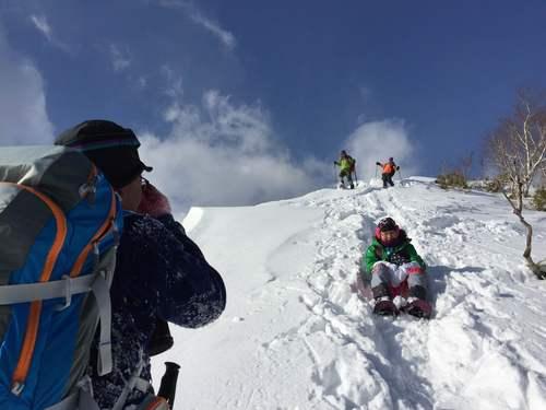 紋別岳から748mピーク、1月27日-同行者からの写真-_f0138096_1071171.jpg