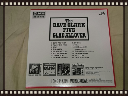 THE DAVE CLARK FIVE / GLAD ALL OVER 紙ジャケ_b0042308_9594844.jpg