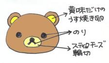 クマ団子の作り方_f0326895_2236860.jpg