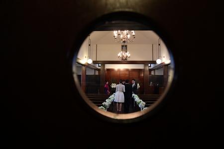 挙式装花 高輪教会様へ ワンピースのドレスのブーケと、冬の日の装花_a0042928_1956327.jpg