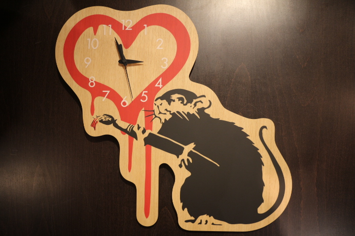 【NEW ARRIVAL】WALL CLOCK -LOVE RAT x KARIMOKU-_b0121563_1553552.jpg