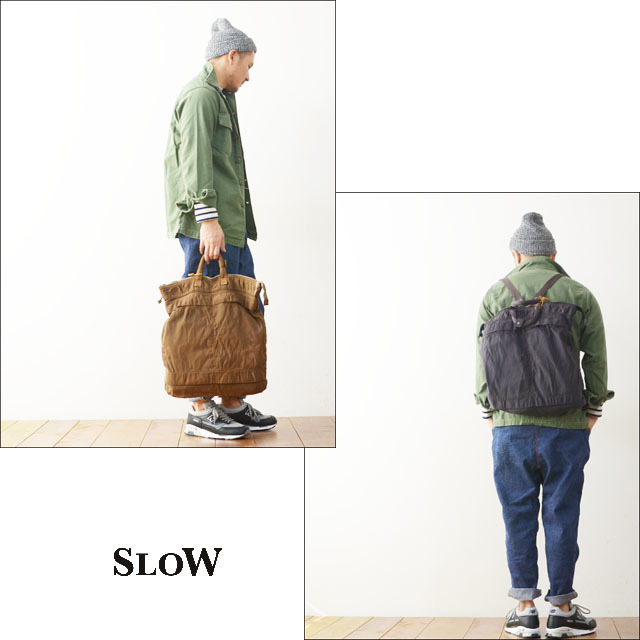 "SLOW [スロウ] VINTAGE MILITARY ""helmet bag L\"" [49S55E] MEN\'S/LADY\'S_f0051306_11371976.jpg"