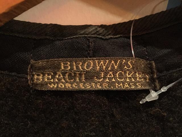 2月3日(水)大阪店ヴィンテージ入荷!#4 トラッド編!!40\'s Brown\'s Beach Vest!!(大阪アメ村店) _c0078587_23105552.jpg