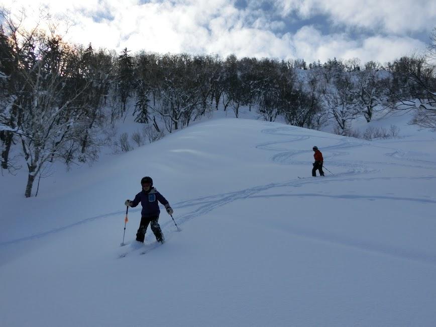 2016年1月23日札幌国際スキー場に近い白井岳支尾根の山を滑る_c0242406_10475896.jpg